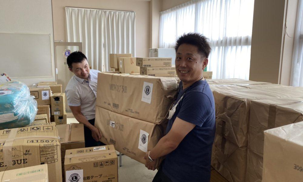 令和2年7月豪雨災害支援物資